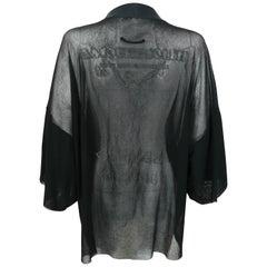 Jean Paul Gaultier Vintage Black Sheer Kimono Blouse