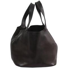 Vintage Hermes Dark Brown Picotin PM Bag  Leather  Bag