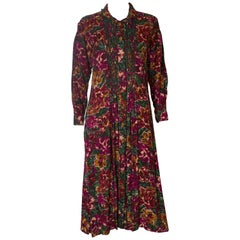 A vintage 1970s floral printed cotton day dress by Monsson
