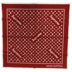 Louis Vuitton Red Supreme Scarf
