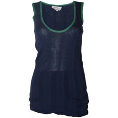 A vintage 2000 navy Silk Mix tank top/vest by Yves Saint Laurent