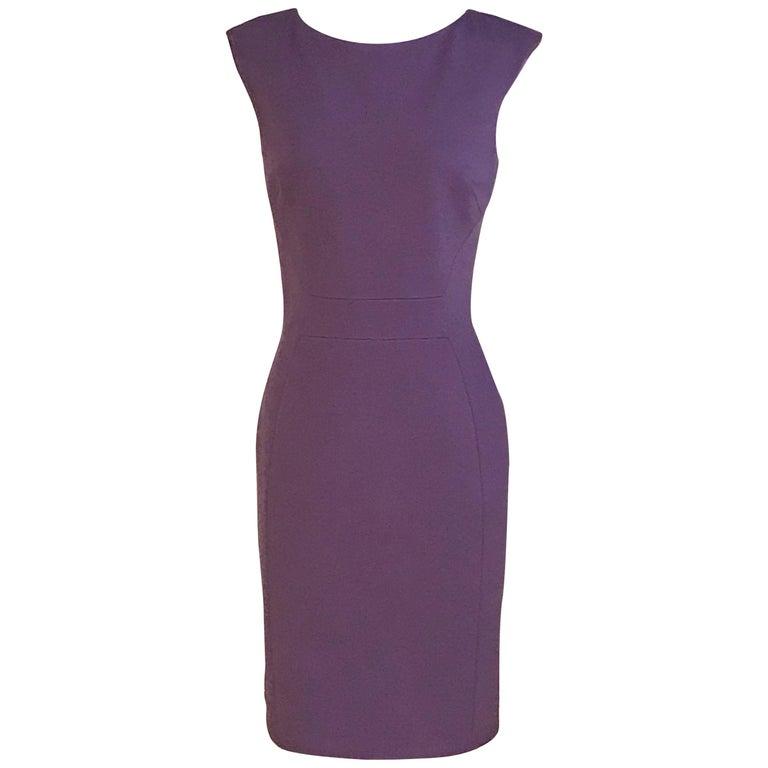New Emilio Pucci Purple Knit Stretch Sheath Dress