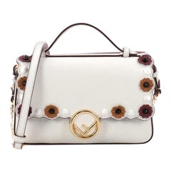 Fendi Double Kan I F Handbag Embellished Leather Micro