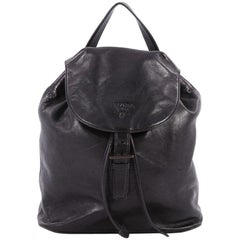 Prada Chain Buckle Backpack Soft Calfskin Medium