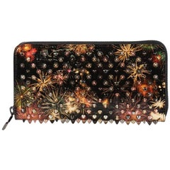 Christian Louboutin Panettone Wallet Spiked Printed Leather