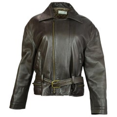 Calvin Klein Collection Brown Leather Jacket