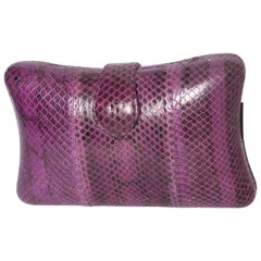 A Vintage 1970s Purple Snakeskin Bag