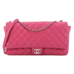 Chanel Coco Rain Flap Bag Quilted Rubber Jumbo