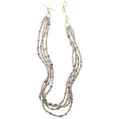 Natural Keshi South Sea Pearl 18 Karat Gold Necklace By Christopher Phelan