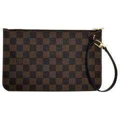 Louis Vuitton Damier Ebene Neverfull MM Pouch Only Wristlet Handbag