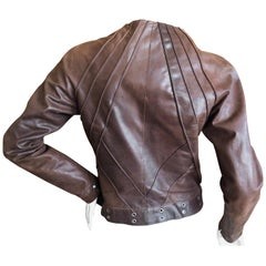 Christian Dior by John Galliano Brown Leather Jacket