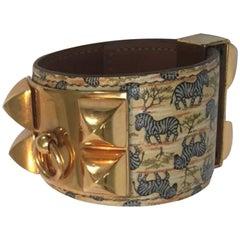 Hermès CDC Bracelet Collier De Chien Zebras Tropiques Leather Ghw RARE