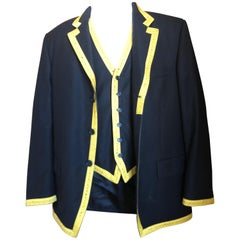 Moschino 1989 Cheap & Chic Iconic Vintage Mens Tape Measure Jacket and Vest