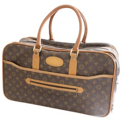 Louis Vuitton Soft Sided Suitcase Luggage Monogram Weekender Carry All Bag Saks