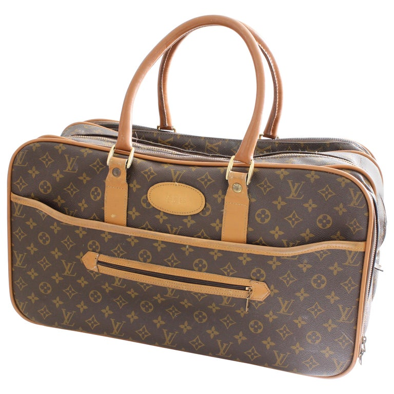 Louis Vuitton Soft Sided Suitcase Luggage Monogram Weekender Carry All Bag Saks For