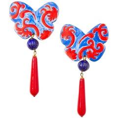 Yves Saint Laurent Rive Gauche Butterfly Earrings