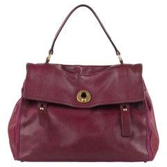 Yves Saint Laurent Purple Leather Large Muse 2 Bag Handbag