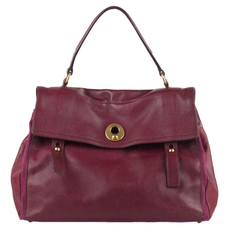 af4d6f9548 Yves Saint Laurent Purple Leather Large Muse 2 Bag Handbag For Sale at  1stdibs