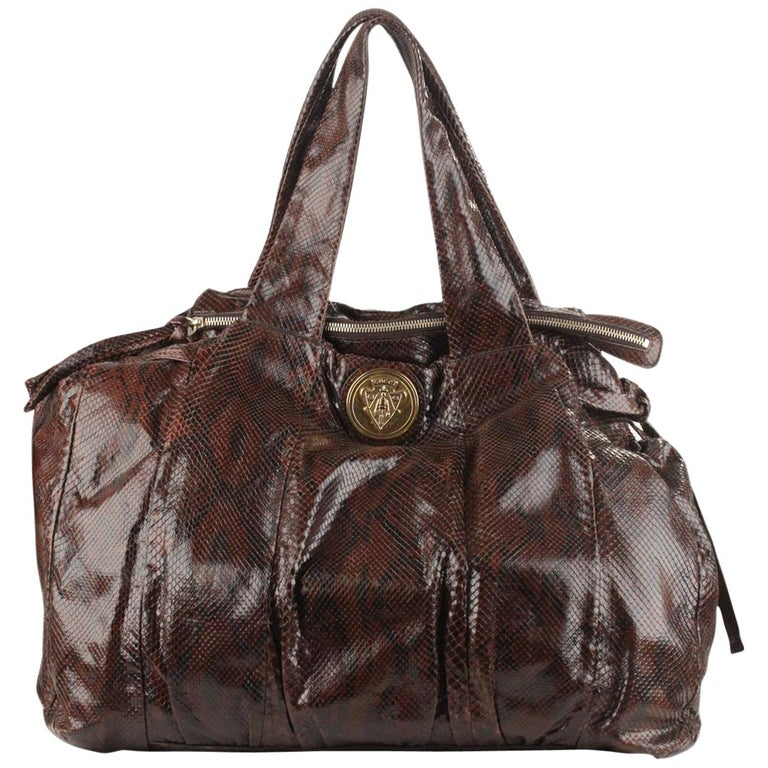5753fbe29f7 Gucci Brown Hysteria Large Tote Bag For Sale. - Gucci brown python leather  ...