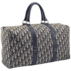 Christian Dior Baggages Boston Duffel in Blue Monogram, 1960s