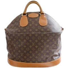 Rare Louis Vuitton Monogram Steamer Bag Keepall Tote Luggage French Company 70s