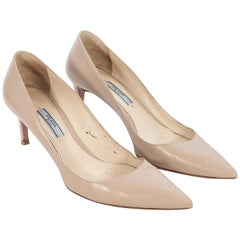 Prada Tan Leather Pumps