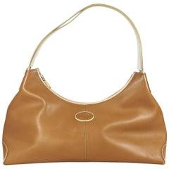 Tod's Brown Leather Shoulder Bag