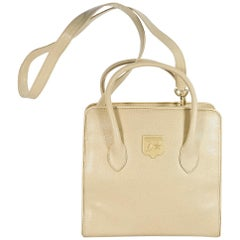 Kieselstein-Cord Cream Leather Trophy Satchel