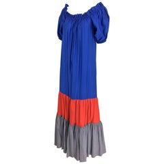 Yves Saint Laurent Rive Gauche colour block maxi dress, 1970s