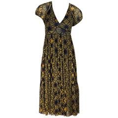 Yellow & Blue Jean Paul Gaultier Printed Soleil Dress