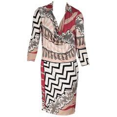 Multicolor Emilio Pucci Printed Silk Dress