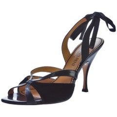 New Tom Ford for Yves Saint Laurent YSL Velvet Leather Heels