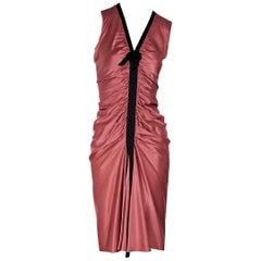 Pink Lanvin Silk Ruched Dress