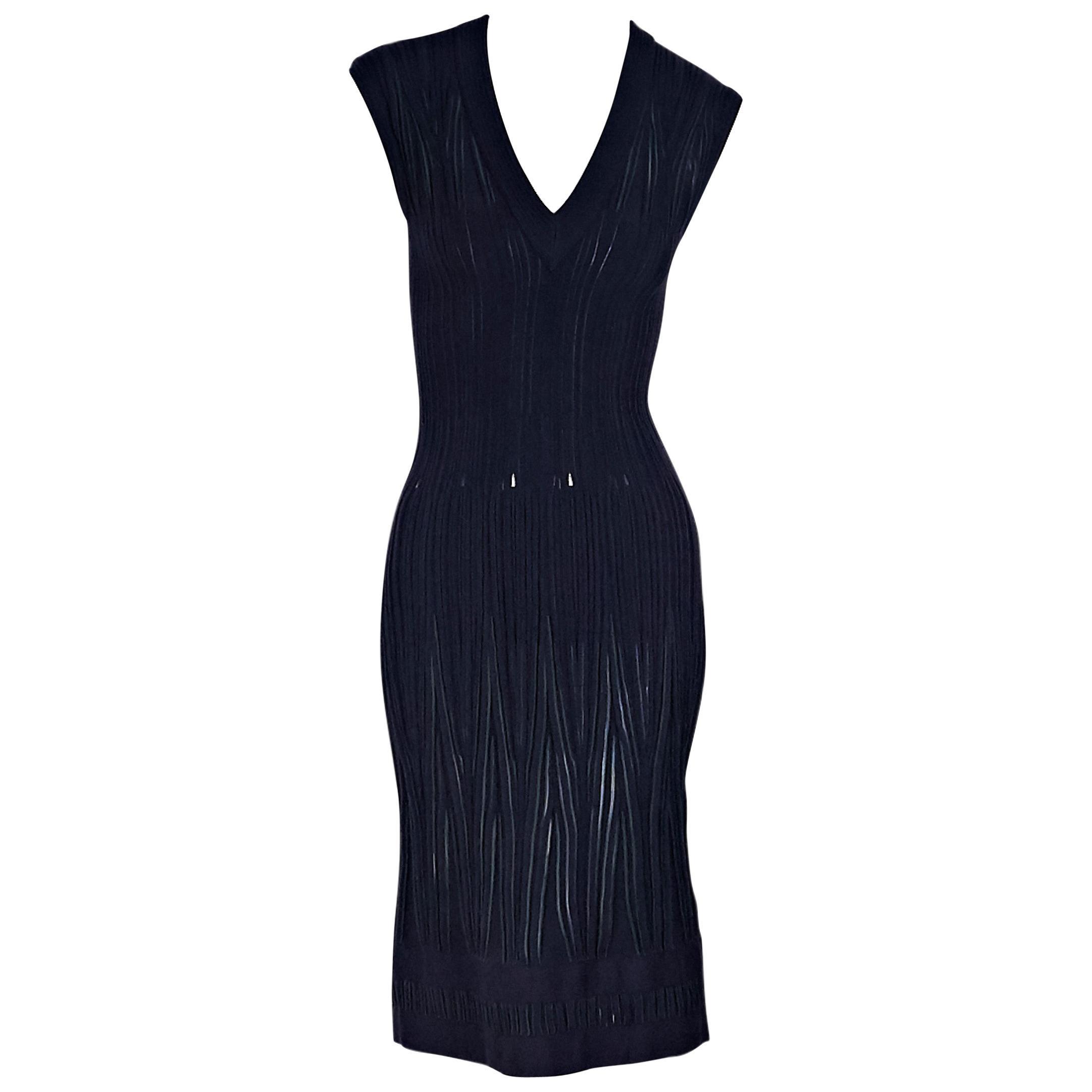 9a2e8344 Alaia Blue and Green Knit Sheath Dress at 1stdibs