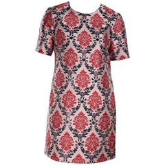 Mary Katrantzou Pink Silk Shift Dress