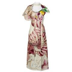 2008 Prada James Jean Fairy Runway Ivory Silk Dress
