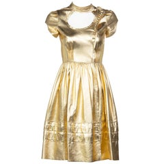 Prada Fairy Runway Gold Leather Dress, 2008