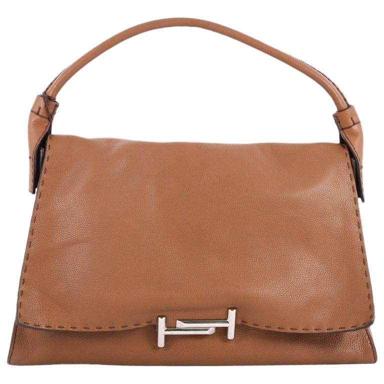 Tod's Double T Shoulder Bag Leather Medium
