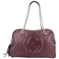 Gucci Soho Chain Zipped Shoulder Bag Leather Medium