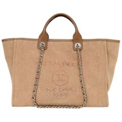 Chanel Tan Canvas and Sequin Large Deauville Tote Bag, 2017