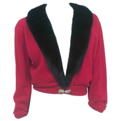 1950s Beth Fritz Red Cashmere Cardigan