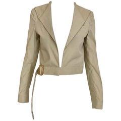 Helmut Lang Vintage Khaki Crop Jacket