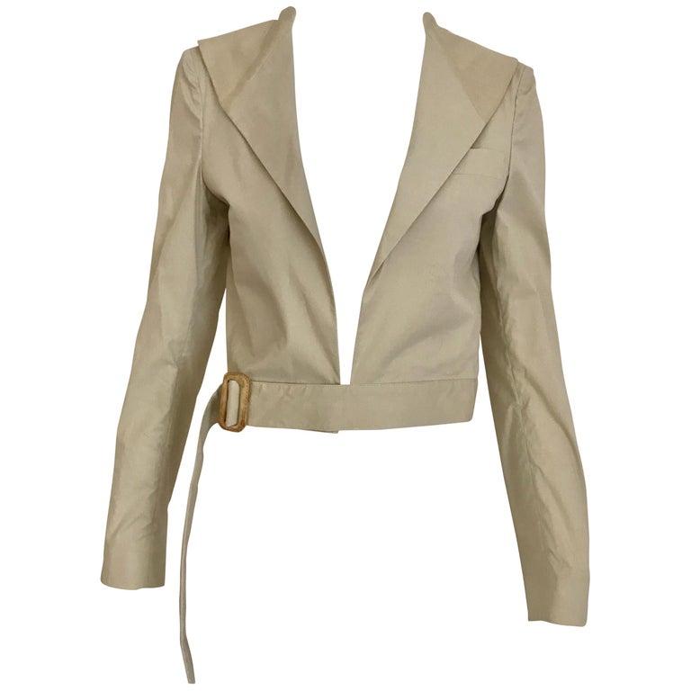2f5201fd02b8 Helmut Lang Vintage Khaki Crop Jacket For Sale at 1stdibs