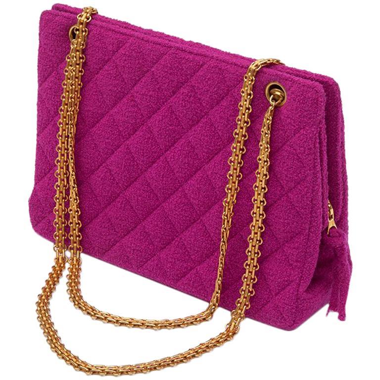 Chanel Tweed Shoulder Bag, Spring-Summer 1994  For Sale