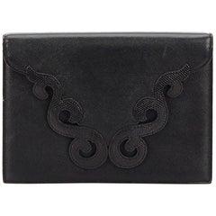 YSL Black 2 Way Leather Clutch bag