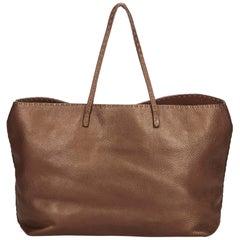 Fendi Brown Selleria Leather Tote