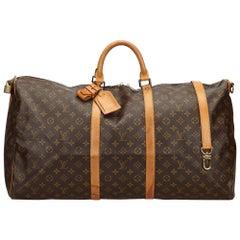 Louis Vuitton Brown Monogram Keepall Bandouliere 60