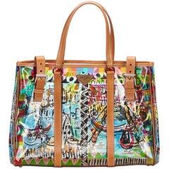 Prada Brown and Multi Plex St. Venezia Tote bag