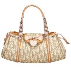 Dior Brown x Beige x Pink Oblique Romantique Handbag