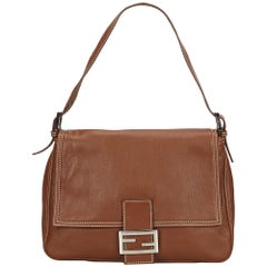 Fendi Brown Leather Selleria Mamma Baguette